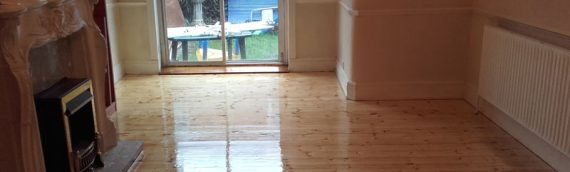 Domestic Pine Floor Sand and Varnish