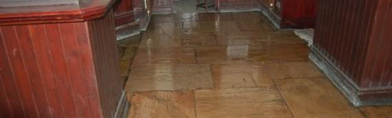 Tiled floor treatment – Pub
