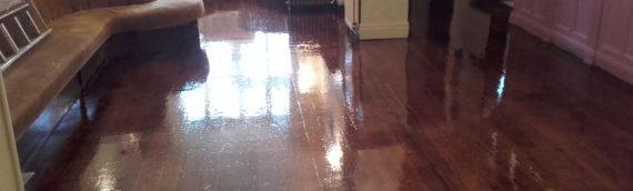 Pub Floor Sand and Varnish