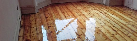 Domestic Semi-Detached Wood Floor Sand and Varnish