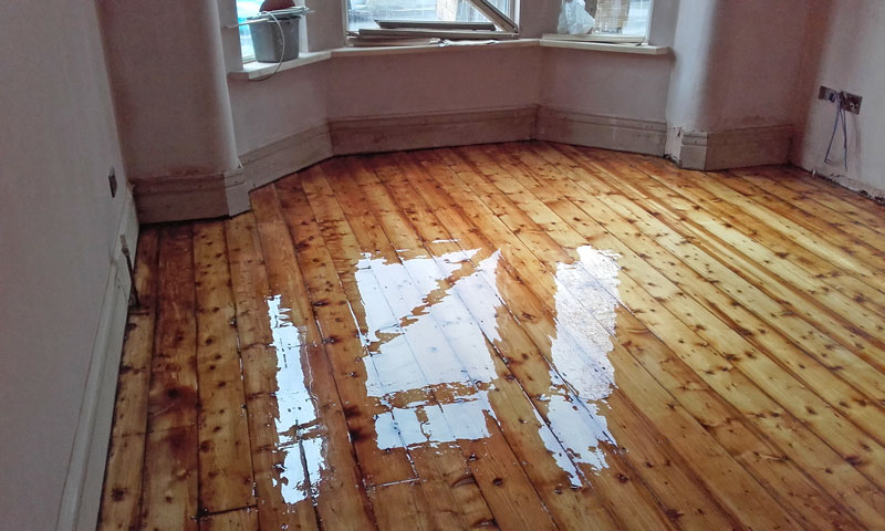 Domestic Semi Detached Wood Floor Sand And Varnish Manchester
