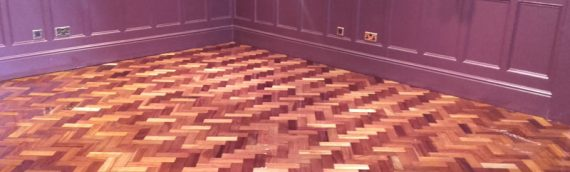 Commercial Premises Parquet Floor Restoration