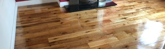 Living room wood floor sand and seal